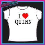 I LOVE HEART QUINN  TSHIRT ALL SIZES & COLOURS